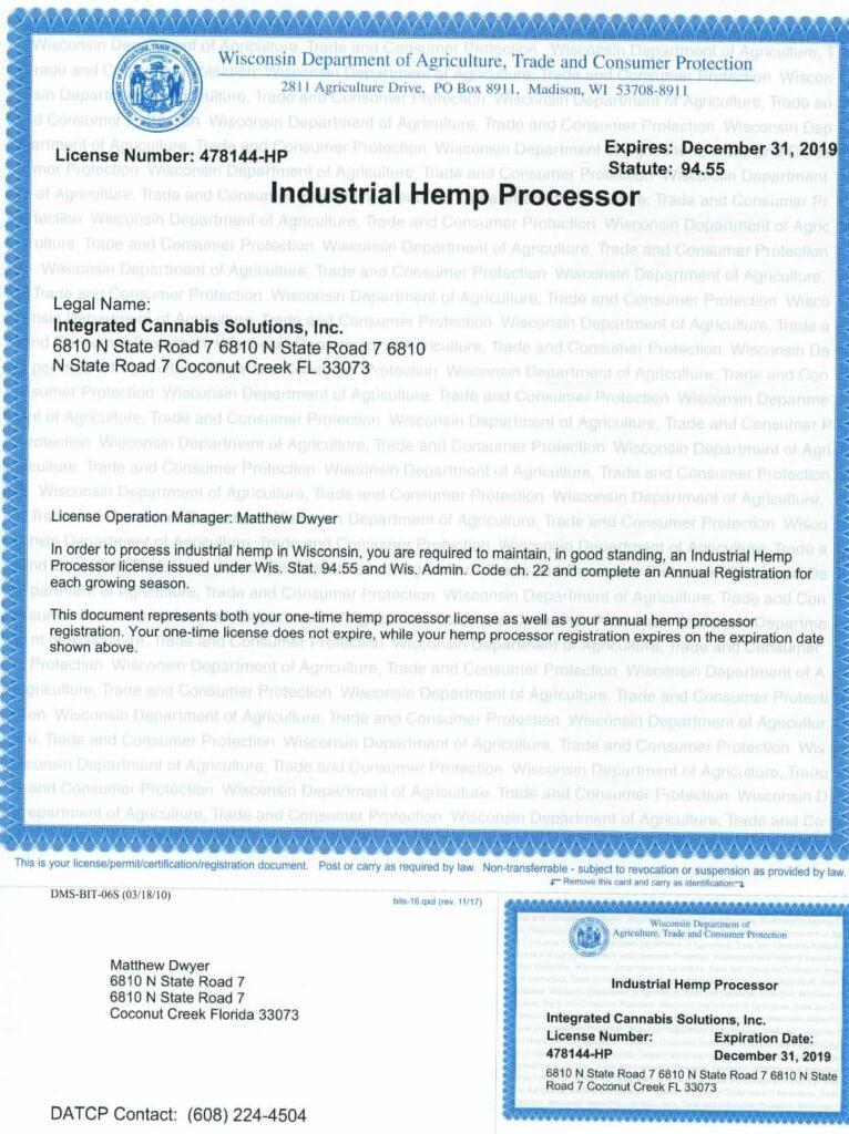 Processing License